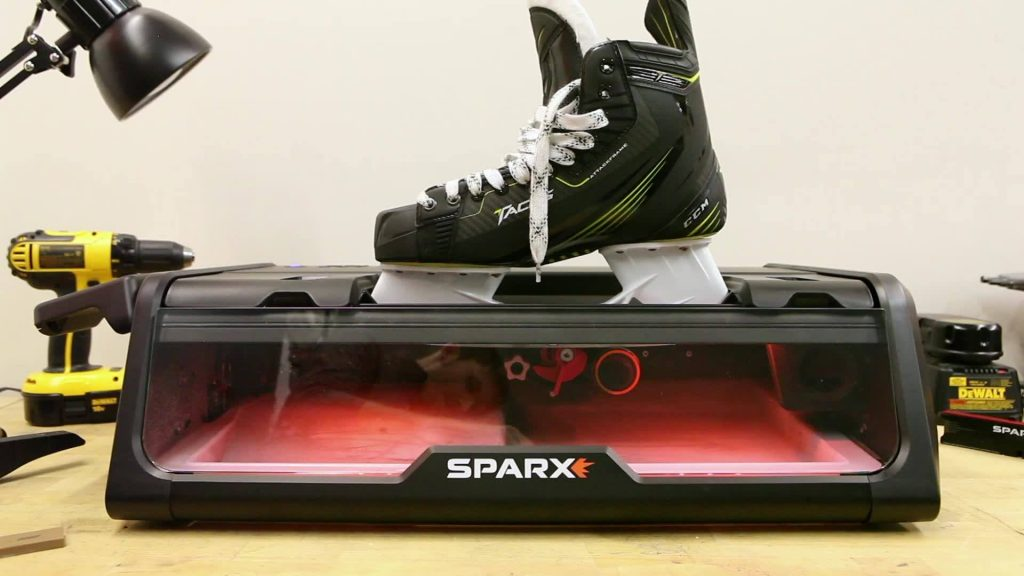 how to sharpen ice skates using a machine